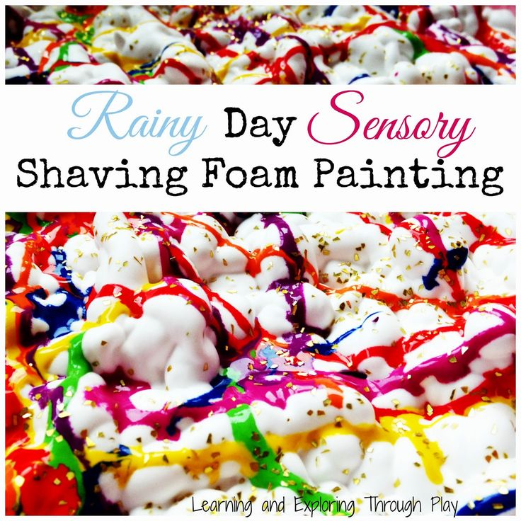 Rainy day activities. Indoor sensory play. Toddlers and preschool activities. Painting. Early Years. Learning through play.