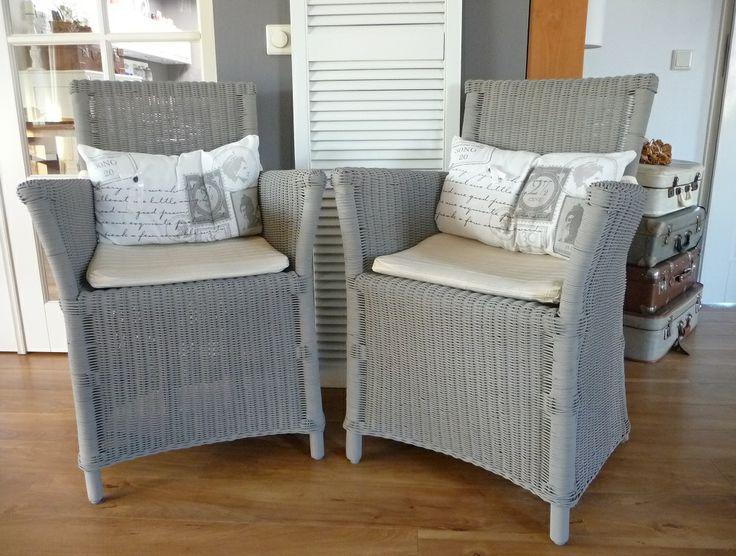25 beste idee n over rieten stoelen op pinterest geschilderd riet riet schilderen en - Meubels om zelf te schilderen zelfs ...