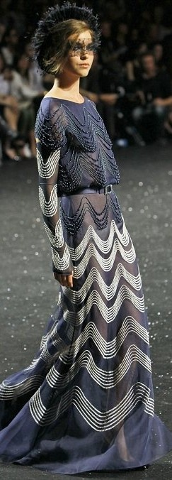 Chanel  --  Gown Encrusted with Pearls