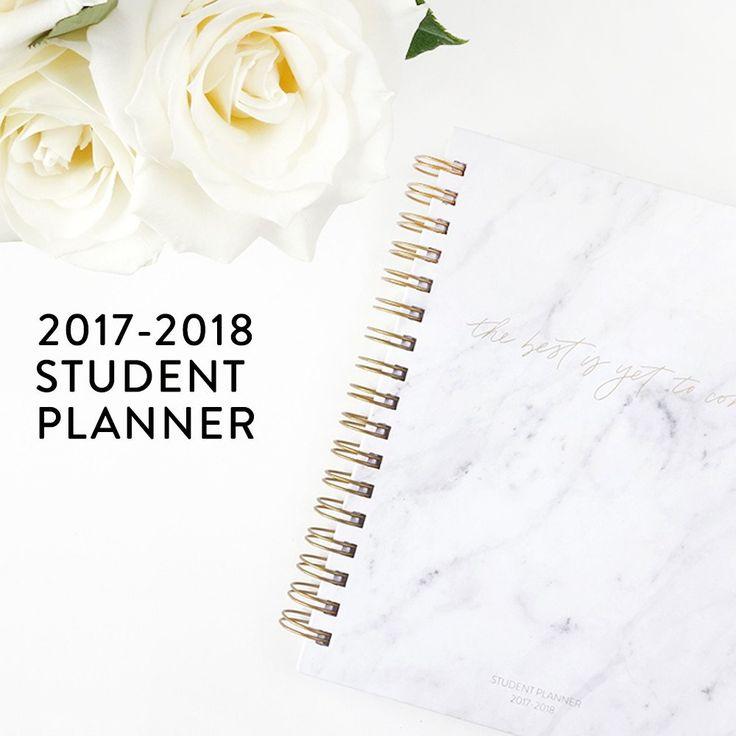 White Marble, Christian Student Planner. Academic Planner for 2017-2018