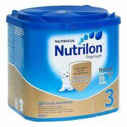 Нутрилон 3 Премиум смесь сухая молочная для детей 400г  — 489р.  Детское молочко Nutrilon® Junior 3- предназначено для питания детей с 12 месяцев.   Цифра «3» в названии молочной смеси означает, что продукт предназначается для питания детей с 12 месяцев.   В каких случаях используется детское молочко Nutrilon® Junior 3* Premium.   Вашему малышу исполнился год. Он активно растет, делает первые самостоятельные шаги и учится общаться с окружающим миром. Иммунная система малыша продолжается…