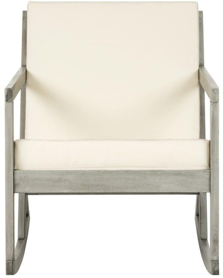The Well Appointed House Grey and Beige Contemporary Outdoor Rocking Chair