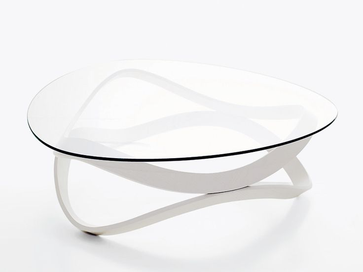 Decided the white frame would work better on the dark floors.  Low round glass coffee table NEWTON by Karl Andersson & Söner design Dan Sunaga, Staffan Holm
