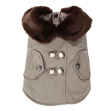 Elegant Thickened Overcoat with Fur Collar for Pets Dogs (Assorted Sizes) – USD $ 16.89