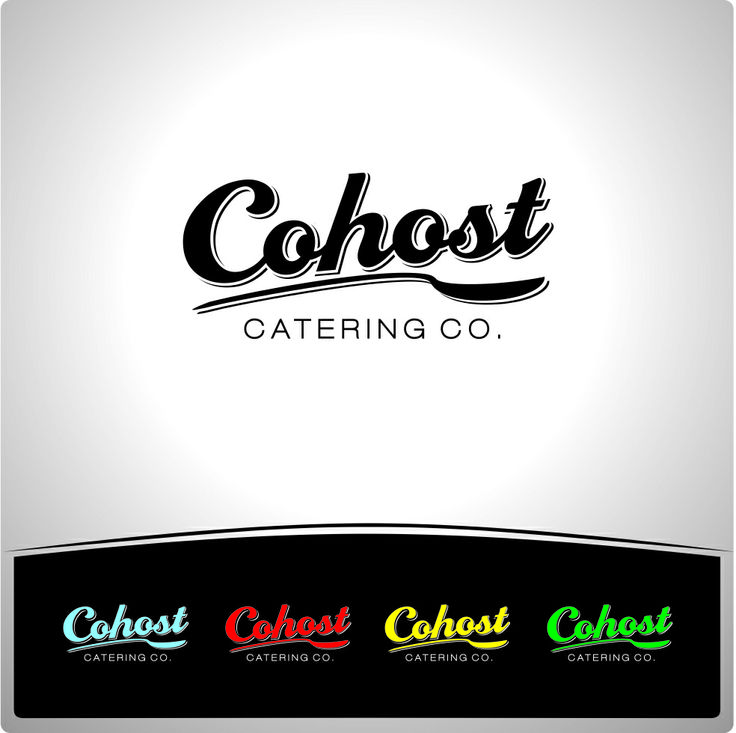 Cohost - Catering Co. Logo  High Six Designs