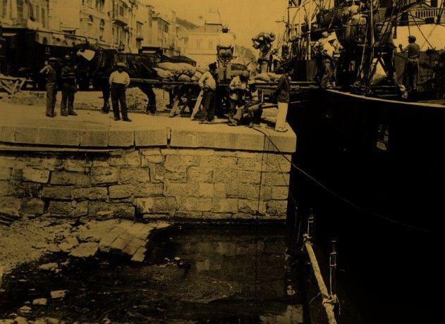 Porto de Imperia, região da Ligúria  Itália, 1934. Arquivo Central do Estado (Roma). Ministério da Marinha Mercante