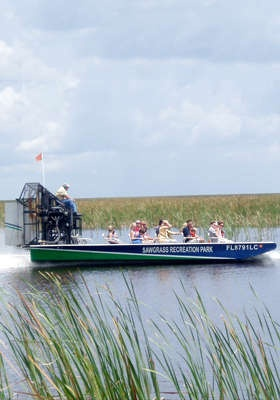 Sawgrass Recreation Park Airboat Tour--- did this today with Capt Chuck- he was GREAT and the ride was GREAT!!!