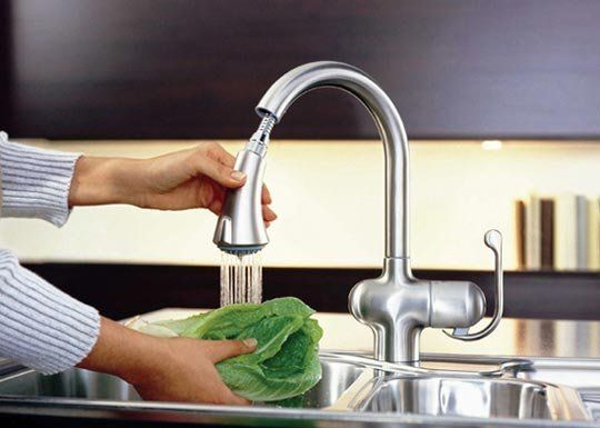 All About: Pull-Out or Down Spray Faucets — Faucet Spotlight