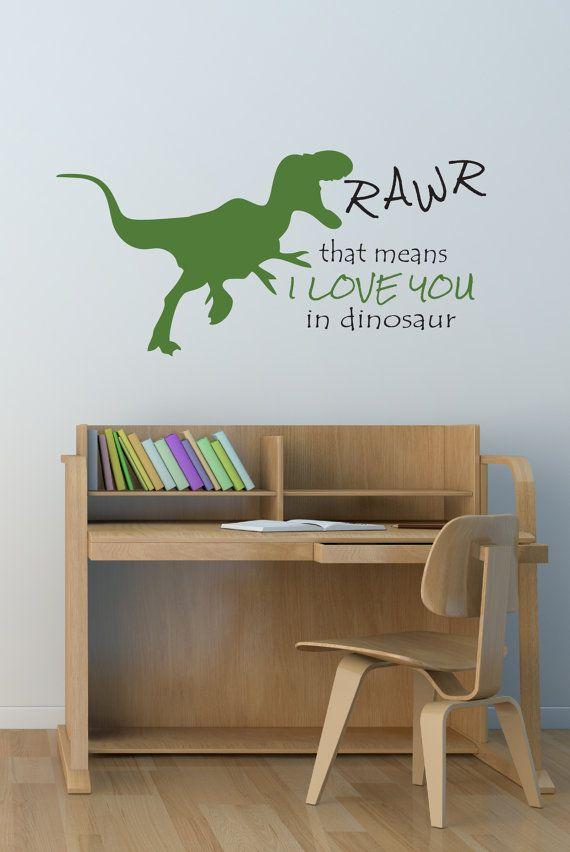 Dinosaur Decal  Wall decals  Dinosaur Decal  by DavisVinylDesigns, $24.00