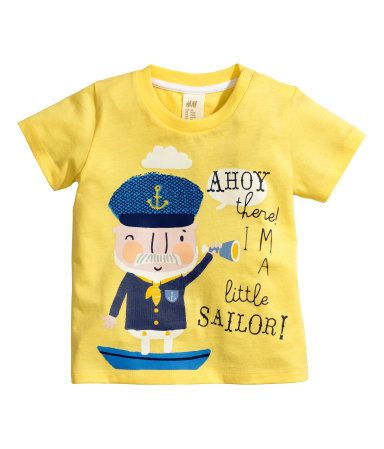 Ahoy There I M A Little Sailor Baby Boy T Shirt H Amp M Us