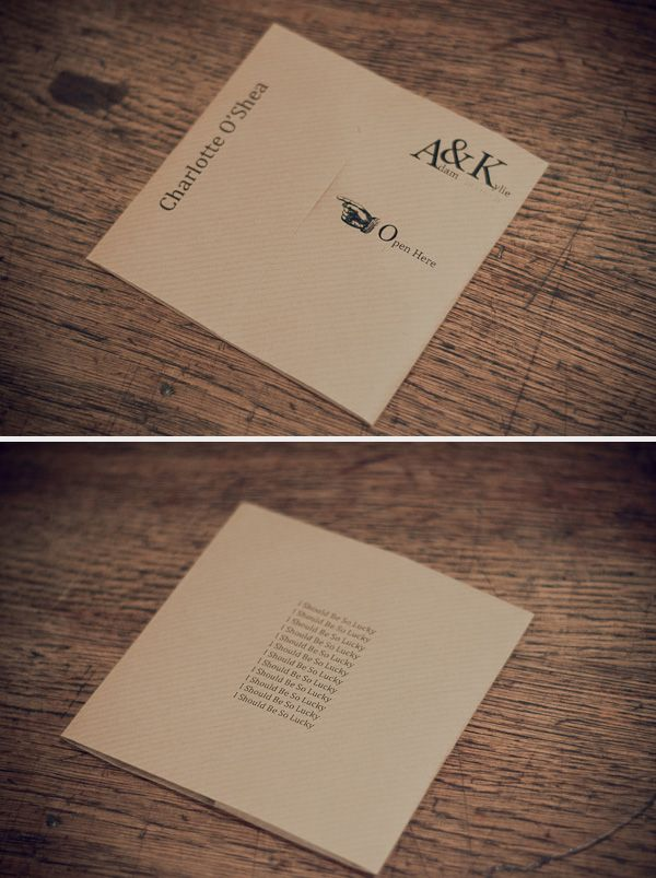 diy cd wedding invitations%0A DIY CD favour place setting for your wedding