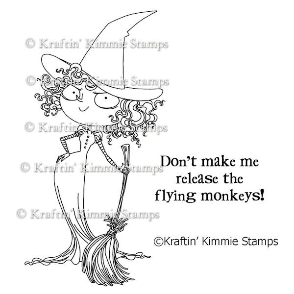 A-182 Kraftin' Kimmie Unmounted Rubber Stamp Wicked Witch  $6.40