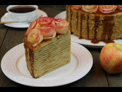 """Торт """"Медовое яблоко"""" очень нежный и домашний - YouTube"""
