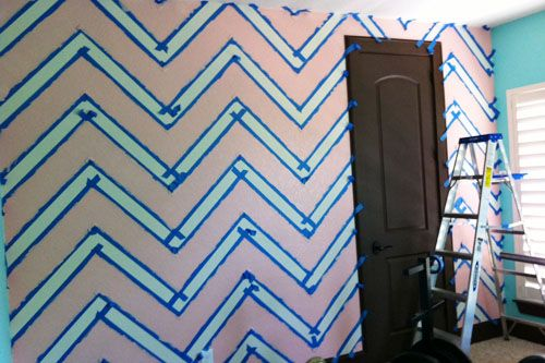 Want to create your own chevron wall! This DIY post gives you all the tips on how to create this fabulous chevron wall!