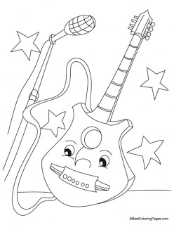 Guitar Coloring Pages | Kids coloring pages