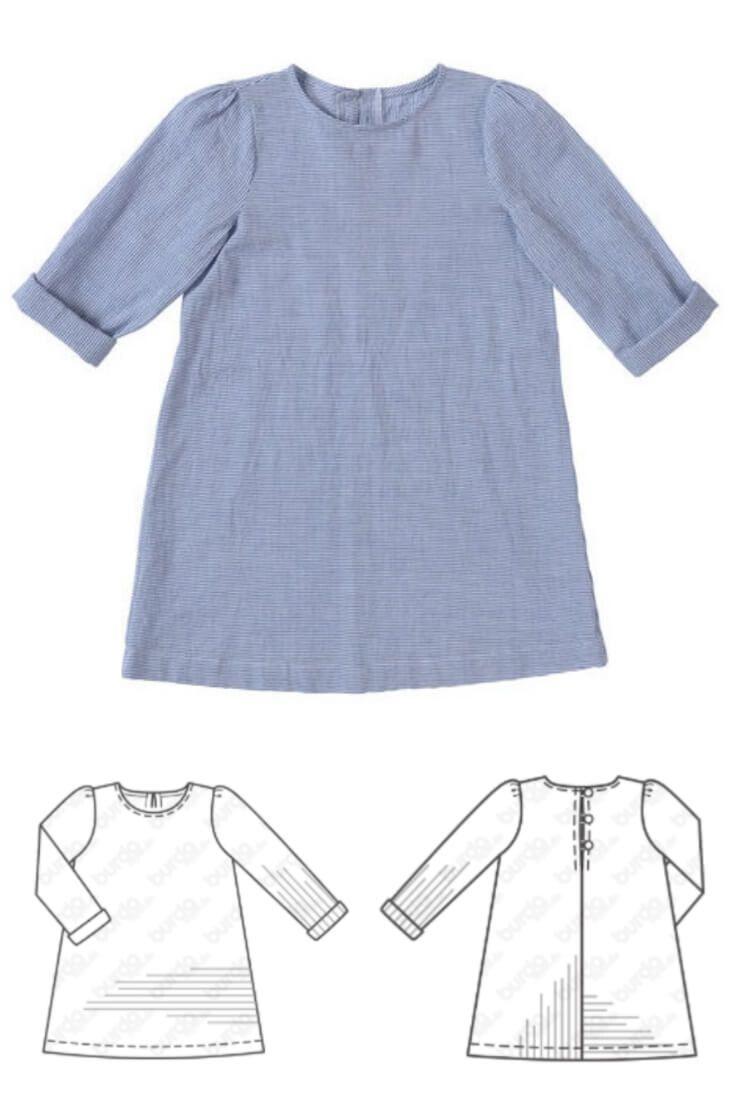 Freebook - Kleid für Maedchen gratis Schnittmuster #nähen #freebook #schnittmuster #gratis #nähenmachtglücklich #freesewingpattern #handmade #diy