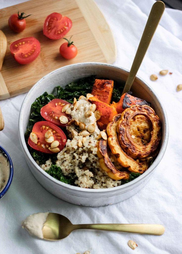 Roasted Veggie and Quinoa Warm Buddha Bowl - The Well Essentials - Gluten Free, Dairy Free