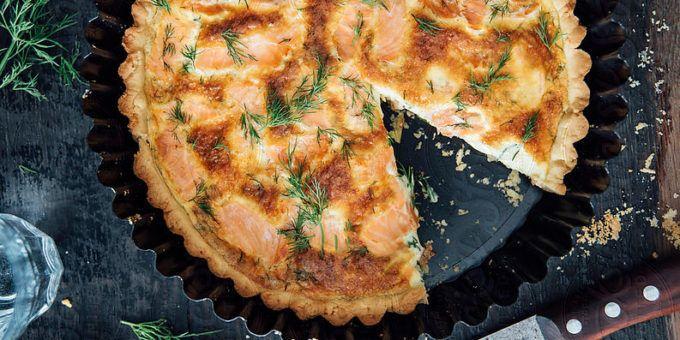 I Quit Sugar: Salmon + Dill Quiche