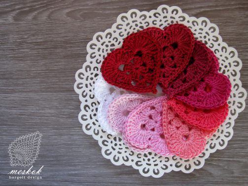 Valentine's day crochet heart http://meskok.hu/termekek/horgolt/szivek-5-db/
