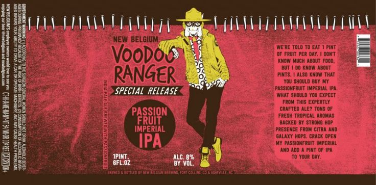 New Belgium - Voodoo Ranger Passionfruit http://www.beer-pedia.com/index.php/news/19-global/4174-new-belgium-voodoo-ranger-passionfruit #beerpedia #newbelgium #imperialipa #citra #galaxy #beerblog #beernews #newrelease #newlabel #craftbeer #μπύρα #beer #bier #biere #birra #cerveza #pivo #alus