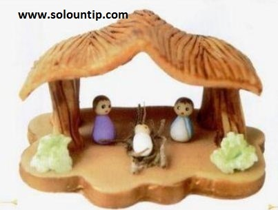 Cold Porcelain Christmas Nativity
