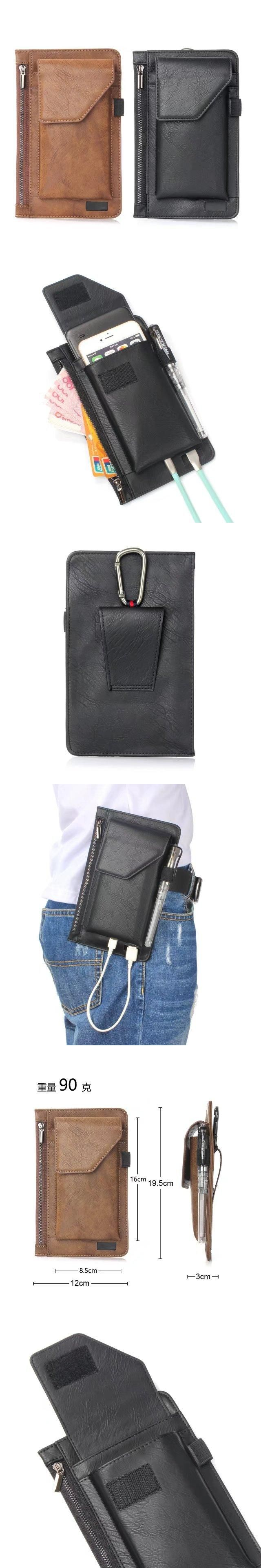 Fashion 2017 PU Leather Mobile Phone Bags For Samsung S3 S4 S5 S6 S7 S8 Edge Plus Multifunction Case Luxury Purse A3 A5 A7 Cover