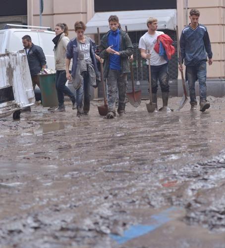 Alluvione di Genova, gli Angeli del Fango del 2014