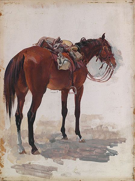 Waler.  George Lambert  ... Light Horse Remount...NONE  came home..Apart from General Bridges own horse...  .