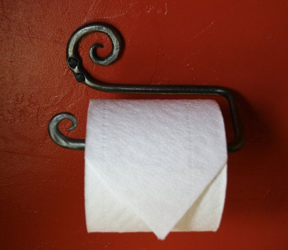 Toilet Paper Holder by BackcountryIronworks on Etsy