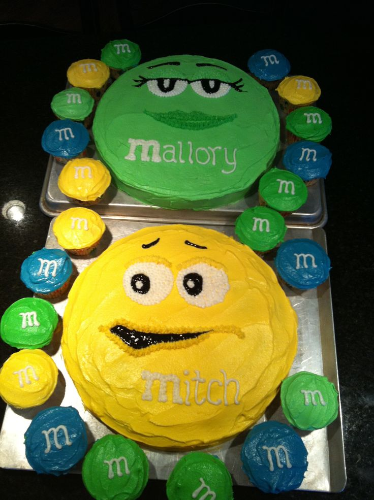M & M Birthday cakes for Mitch & Mallory