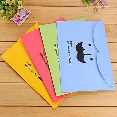 Mustasch Paper File (slumpvis färg) – SEK Kr. 8