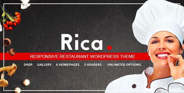 Rica - Responsive Restaurant WordPress Theme. Full view: https://themeforest.net/item/rica-responsive-restaurant-wordpress-theme/15741077?s_rank=26?ref=thanhdesign
