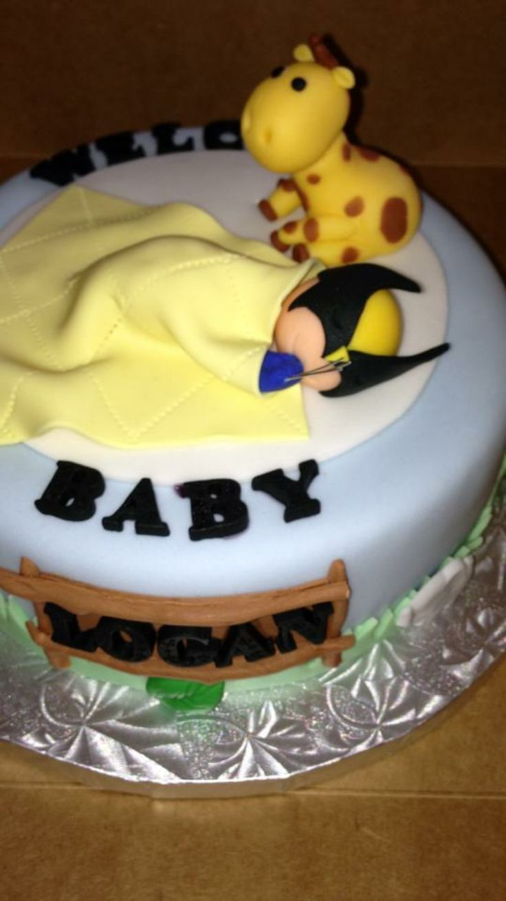 Baby Wolverine Cake for babyshower by GlamCakery