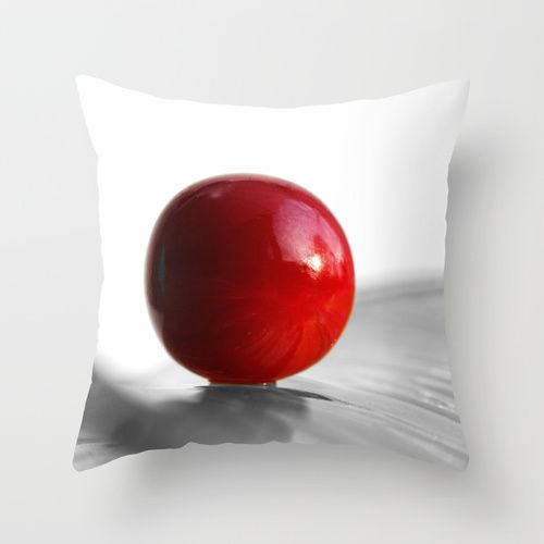 Red Heart Throw Pillow