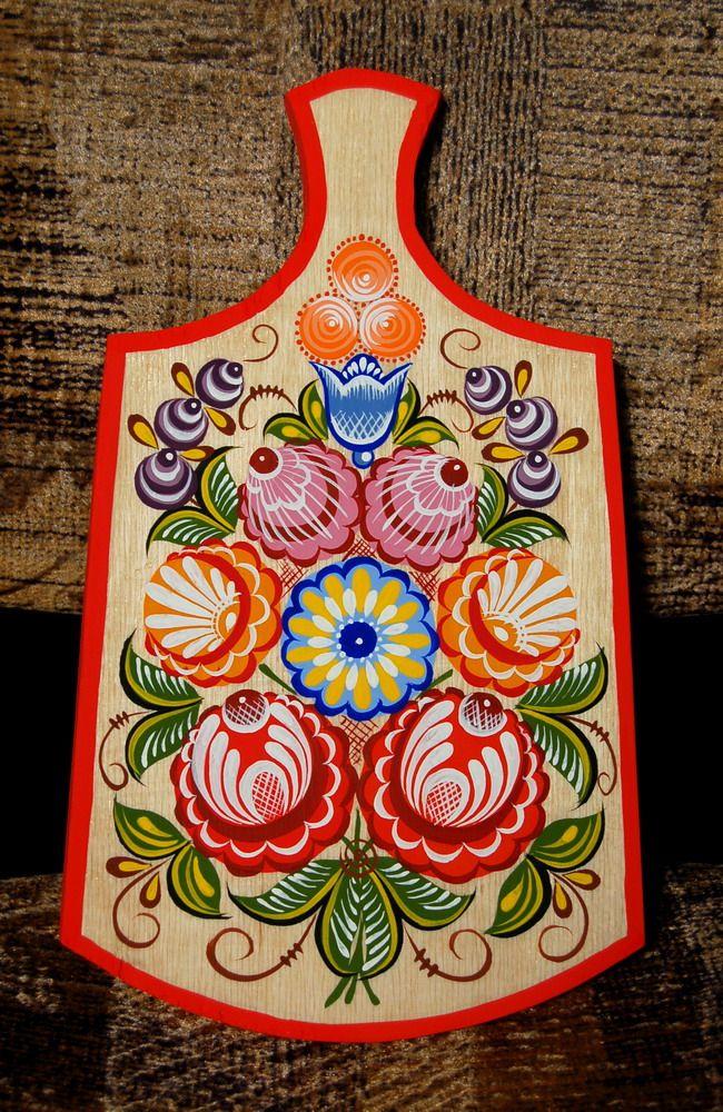 Расписные доски картинки с цветами