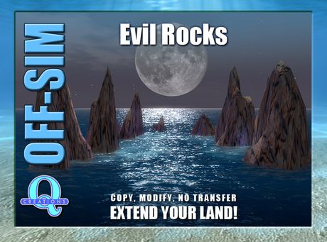 Second Life Marketplace - Q Creations - Off Sim - Evil Rocks