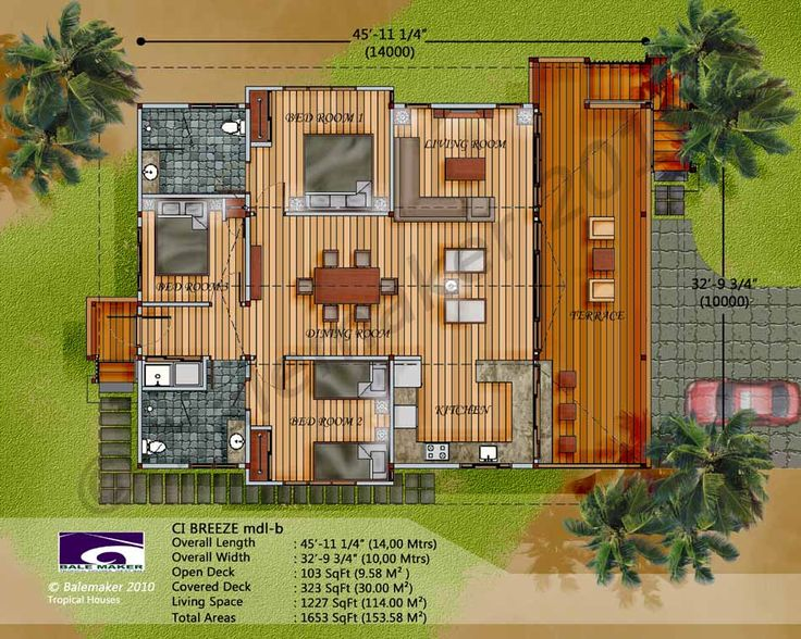 Lovely Tropical House Plans : Eco Tropic Building Design Ideal Home Tropical Ghana Home  Designs On Amaliavet