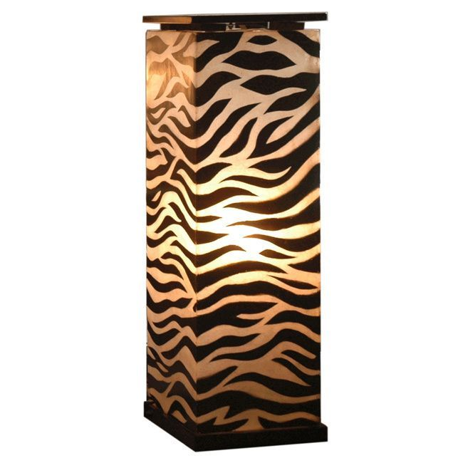 Crafted Home Decorative Topeka Zebra Transitional Floor Lamp