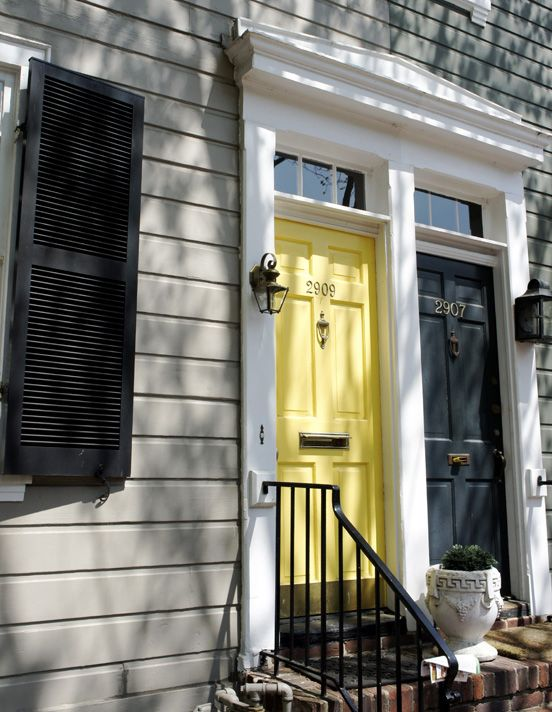 exterior trim and yellow door colours - Google Search