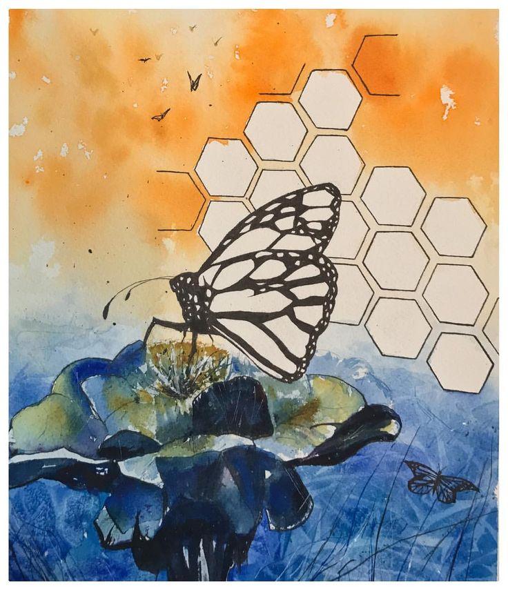 Butterfly watercolour painting. Tattoo art style Luke Artistry (@lukeartistry)