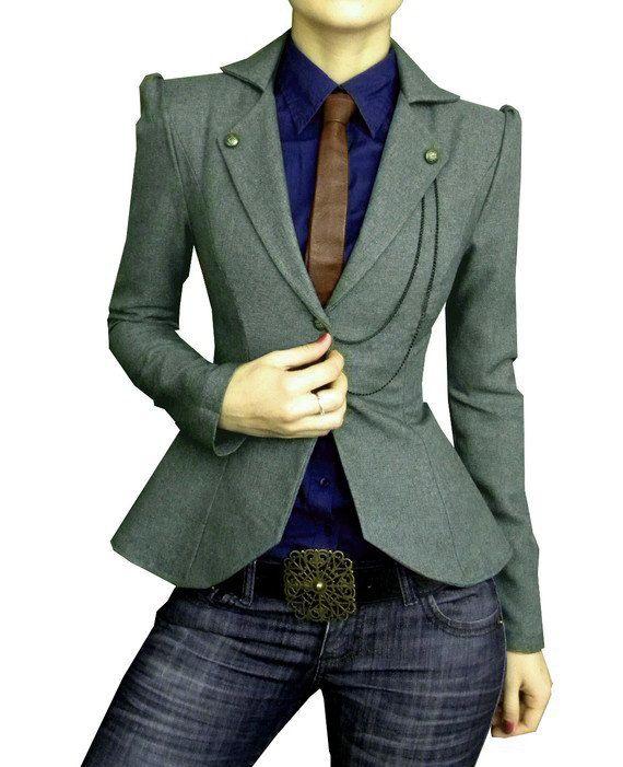 GILDA jacket, custom. $160.00, via Etsy.