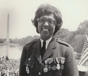 "Female Badasses in History: Josephine Baker (1906-1975)  the only official female speaker at the 1963 March on Washington. She spoke at the side of Martin Luther King Jr. wearing her Free French army uniform and her medals. Baker used this opportunity to introduce the ""Negro Women for Civil Rights"" and brought Rosa Parks and Daisy Bates to the stage to give brief speeches."
