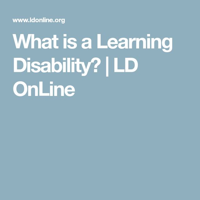 What is a  Learning Disability? | LD OnLine