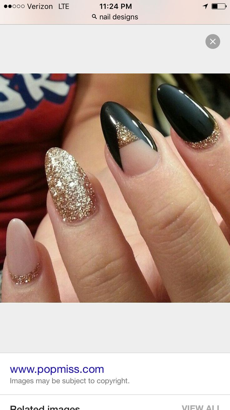 Love the colors! Not the nail shape.