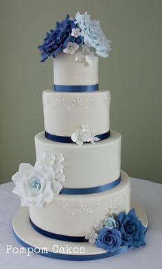 2 tier square wedding cakes - Google Search