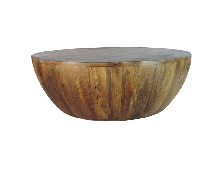 Mango Wood Coffee Table In Round Shape By The Urban Port