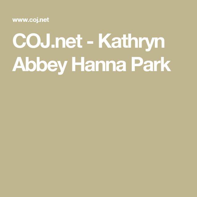 COJ.net - Kathryn Abbey Hanna Park