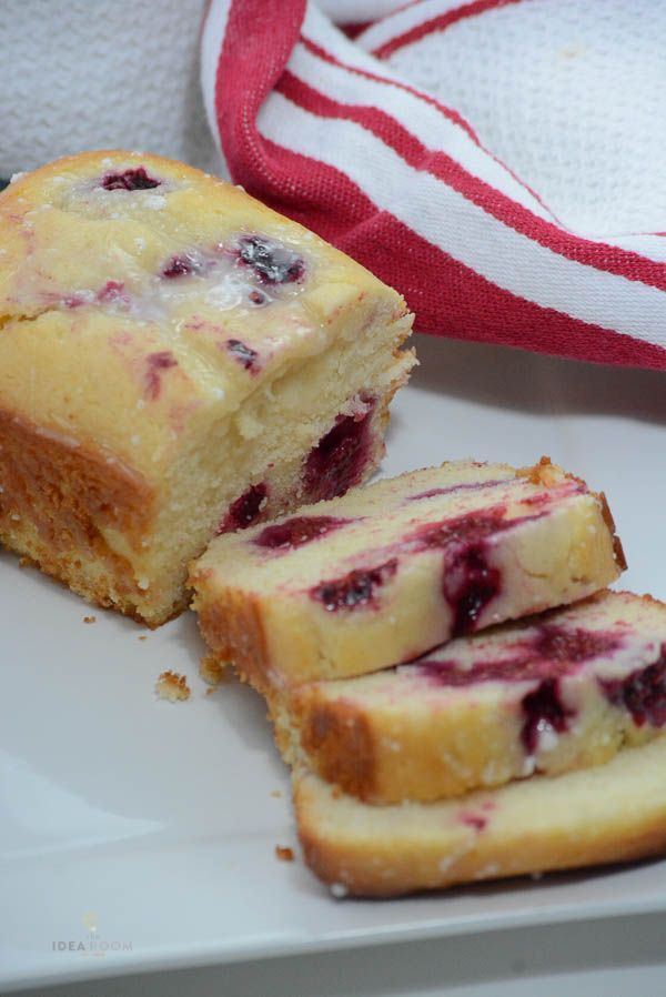 Bread Recipe | This Lemon Raspberry Loaf is a delicious Spring Quick Bread Recipe.  Fresh raspberries (or frozen) give a little twist to a delicious Lemon Bread Recipe.