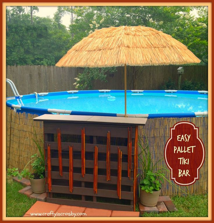 Pallet Bar, Above Ground Pool Decor, Above Ground Pool, Poolside Bar They  Are
