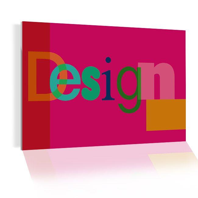 Le design avec un tableau plexi